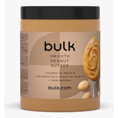 Фъстъчено масло Bulk Powders, гладко, 1 кг